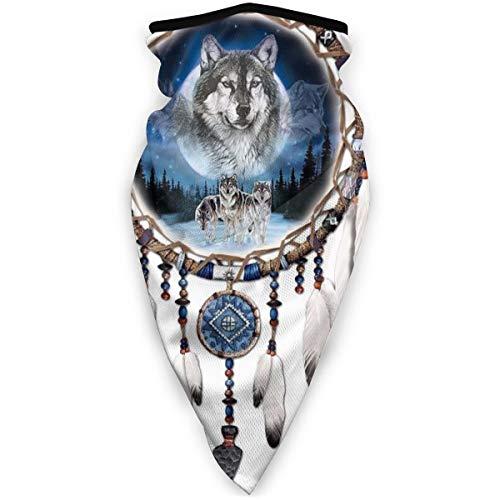 Balaclava Face Mask Native American Dream Catcher Scarf Multifunctional Neck Gaiter Breathable Headwear Bandana for Men and Women Black