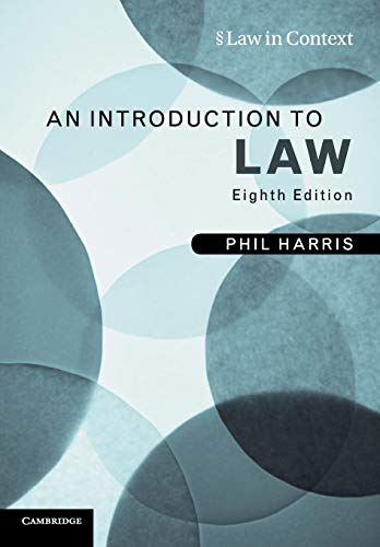 An Introduction to Law (Law in Context)