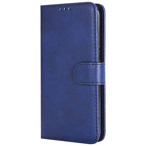 Bear Village® Hülle für Samsung Galaxy S7 Edge, Flip Leder Handyhülle Tasche mit Kartensfach, TPU Innere Ledertasche, 360 Grad Voll Schutz, Blau