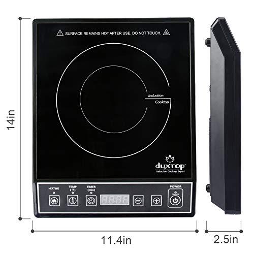 Duxtop 9100MC 1800W Portable Induction Cooktop Countertop Burner, Black