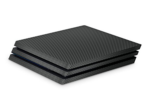 Skins4u Aufkleber Design Schutzfolie Vinyl Skin kompatibel mit Sony PS4 Playstation 4 Pro carbon