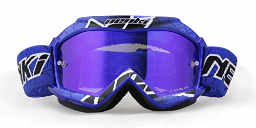 NENKI Kids Brillen NK-1018 for Motocross,Tinted Lens (Blue)