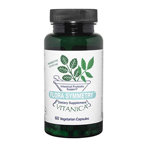 Vitanica Flora Symmetry, Shelf Stable Probiotic Supplement, Dr Formulated Probiotics for Women, Probiotics for Men and Adults, Includes Acidophilus Probiotic, Non-GMO, Vegetarian, 60 Count