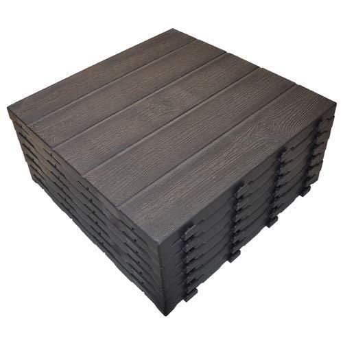 Art Plast e40lm/7Kit 7azulejos de polipropileno con efecto somier madera, marrón, 400x...