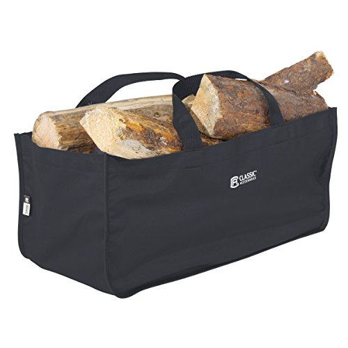 Fantastic Deal! Classic Accessories Jumbo Log Carrier, Black