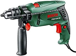 Bosch Impact Drill Plus Fixing Set, 13 mm, PSB 530 RE, Green, 173 Pieces