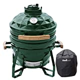 Chefood 16' Ceramic Kamado Style BBQ Cooking Charcoal Grill Pack with a Cover