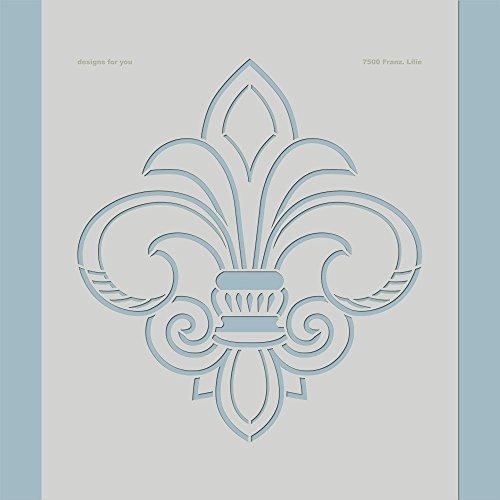 Schablone – Französische Lilie, 7500, Wandschablone XL, XXL, Malerschablone, Schablonenfolie