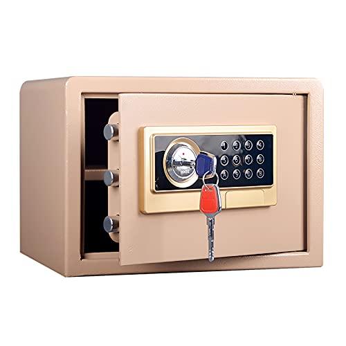 VIY Caja Fuerte electrónica Caja Seguridad hogar con Bloqueo Digital, Estante extraíble - Caja Fuerte para portátil - 25x35x30cm