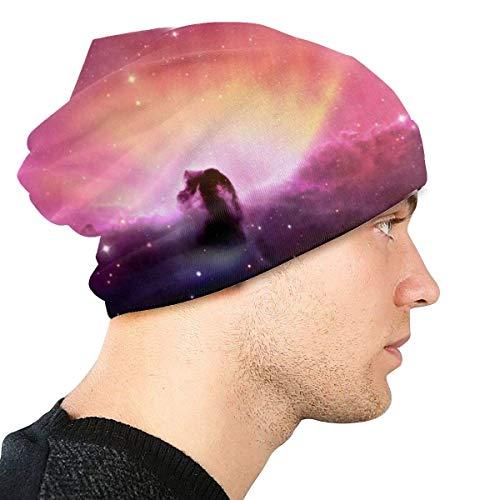 Berretti in Maglia per Uomo e Donna Luci Colorate in Sky Skull Caps Berretto da Sci Caldo Berretto in Maglia