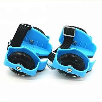 JRYⓇ Kids Roller Skates - Heel Wheel Roller Skates Attachable Shoe Trainer Roller Skate Wheels Pulley for Kids Boys Girls with Led Lights