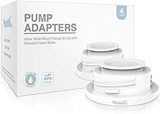 Papablic Leak-proof Pump Bottle Adapter, for Spectra S1 S2 Pump Flanges to Use with Medela Baby Bottles, 4 Pack