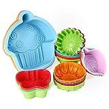 WOMGF Stampi in Silicone per Muffin e Cupcake Pirottini da Forno Riutilizzabili, Confezione da 24