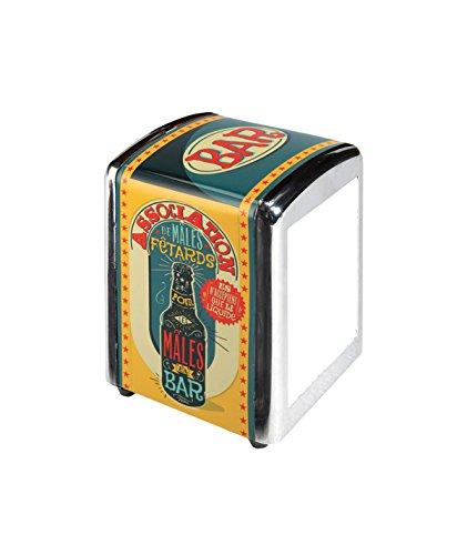 Natives 700280Dispenser per tovaglioli 3Pieghe, Metallo, Multicolore, 10x 9x 14cm