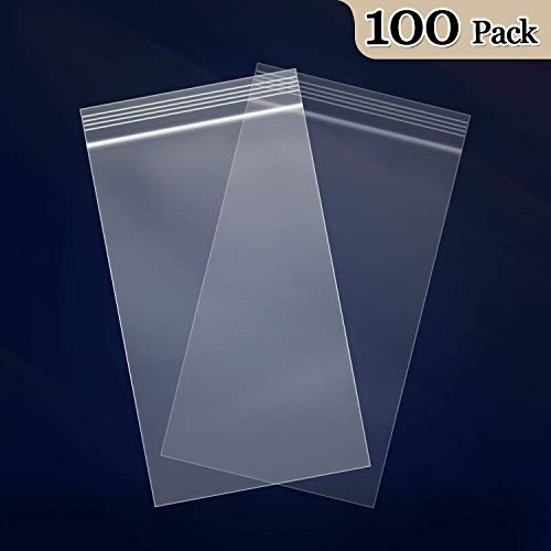 "100 Count - 4"" x 6"", 2 Mil Clear Plastic Reclosable Zip Poly Bags with Resealable Lock Seal Zipper for Photo, Jewelry, Bakery, Treats, Party Favors"