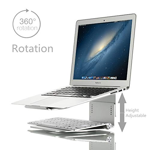 Computer Stand Height Adjustable Aluminum Alloy Laptop Cooling Stand 360 Rotation Ergonomic 10-17 inch Notebook Holder for MacBook Air Pro.