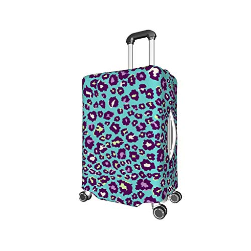 XHJQ88 Pattern Leopard Travel Suitcase Covers - Leopard 3D Printing 4 Sizes fit Many Suitcase Black XL (29-32 inch)