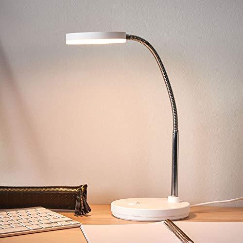 Lindby LED Tischlampe 'Milow' (Modern) in Weiß u.a. für Wohnzimmer & Esszimmer (1 flammig, A+, inkl. Leuchtmittel) - Tischleuchte, Schreibtischlampe, Nachttischlampe, Wohnzimmerlampe