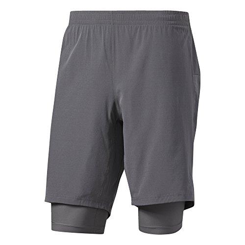 adidas Collant de Course Supernova Dual Short, Homme, Supernova Dual Laufhose, Grefiv/Grau, XL/9 Zoll