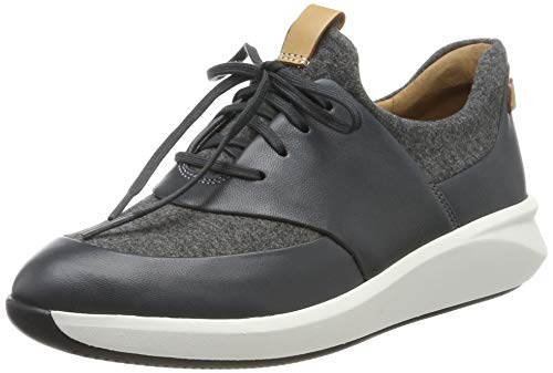 Clarks Un Rio Lace, Damen Niedrig, Grau (Dark Grey), 41.5 EU (7.5 UK)