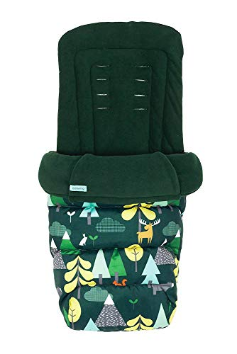 Cosatto Giggle 3/4 Footmuff – Cosy Toes, All Season Quilted Pushchair Liner, Washable (Into The Wild)