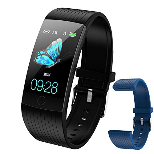 Fitness Watches for Women, Fitness Tracker with Heart Rate Monitor, Smart Watch for Kids with Step Tracker, Calorie Counter, Pedometer, IP67 Waterproof Smart Watch for Kids, Women, Men