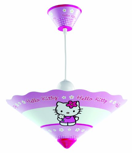 Dalber Lampe de Plafond - Lustre Conique - Hello Kitty - PVC