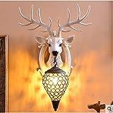 ZXF Lucky Bow Antler Wandleuchte/Wohnzimmer TV Hintergrundwand Nachtwandleuchte/Ornament Cozy (Farbe...
