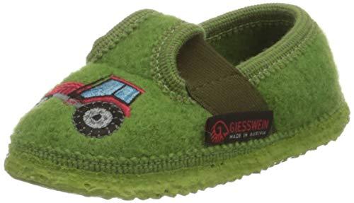 GIESSWEIN Kinder Hausschuh Töging - warme Jungen Hausschuhe | leichte Slippers aus Wollfilz | Flexible Weite | rutschfeste Latex Sohle | Filz Pantoffeln