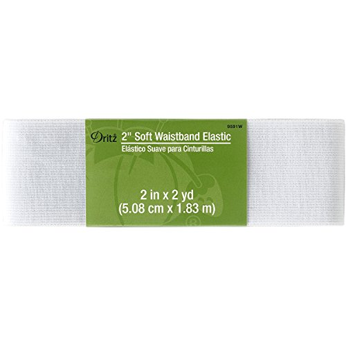"Dritz Notions White Elastic Soft Waistband 2"", 2"""