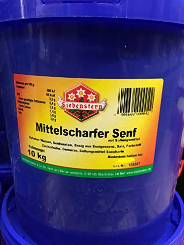 Senf Siebenstern mittelscharf 10 Kg Eimer