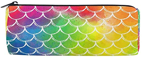 Estuche de Lápices Rainbow Mermaid Fish Scale Wave Pen Estuche para lápices...