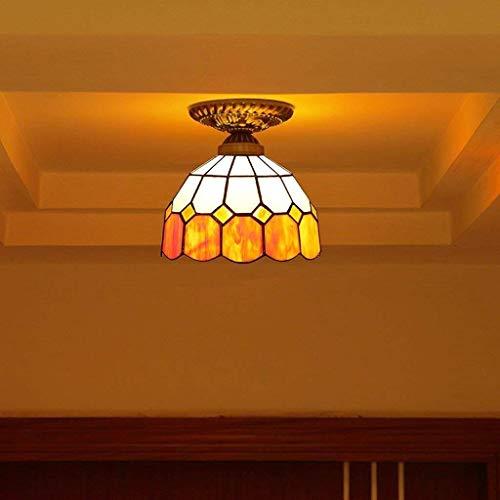 LQQ Gyy Home Hotel Beleuchtung Exquisite Kronleuchter Continental Kreative Schlafzimmer Gang Deckenleuchte Mediterrane Warme Farbe Stilvolle Balkon Korridor Deckenleuchte E27
