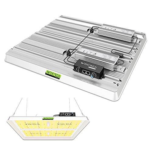 WEiCREA  MATRI-X4000  LED Grow Light for Indoor Plants, Real Full Spectrum Samsung Diodes 2.7+ μmol J Dimmable Growing lamp, 1332 LEDs 400 Watt, Perfect for 4x4 and 5x5 ft Coverage
