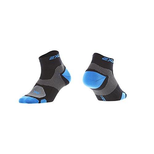 2XU Damen Training VECTR Socken, Damen, Black/Blue Atoll, Small