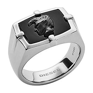 Diesel Herren-Ringe Edelstahl mit '- Ringgröße 61 DX1175040-10