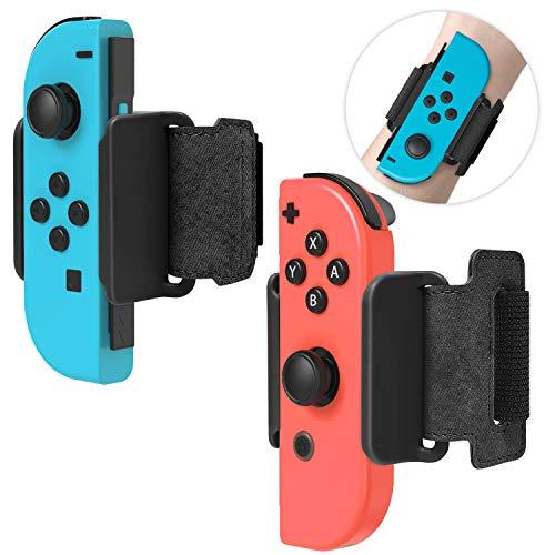 FYOUNG Braccialetti per Just Dance 2020/2019 Set di fasce da danza regolabili per Nintendo Switch Controller Game and Joy-Cons (confezione da 2) (nero)
