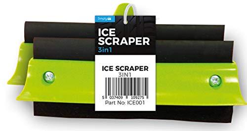 Simply ICE001 3 en 1: Limpiador de Ventana, rascador de Hielo y Esponja