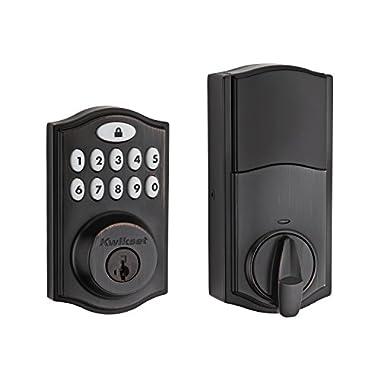 Kwikset 99140-003 914 Z-Wave SmartCode Electronic UL Deadbolt, Works with Alexa via SmartThings, Wink, or Iris featuring SmartKey in Venetian Bronze