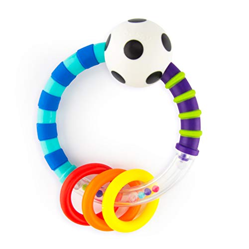 Product Image of the Sassy Ring Rattle | Developmental Baby Toy for Early Learning | High Contrast |...