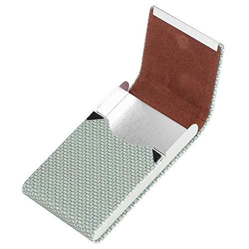 Zerodis Modische Dual-Funktionen Zigarettenetui PU Leder Visitenkarte Aufbewahrungsbox Etui Inhaber Organizer Geschenke(Grün)