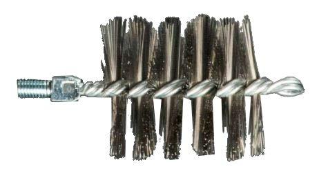Brosse ronde en acier, diamètre 180 mm, raccord M12 cod. 310/180