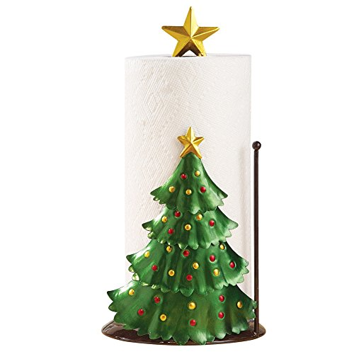 Christmas Tree with Star Topper Decorative Paper Towel Holder