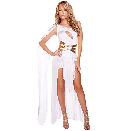 Liuyang Costume da Cleopatra Sexy per Adulti Costumi di Halloween per Donna Vestito da Festa in Maschera per Cosplay-Bianca_Taglia Unica