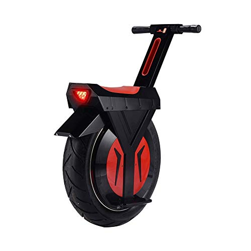 """LQQ Motorized smart Balance Scooter Elektrisches Einrad Mit Bluetooth-Lautsprechern 60V / 500W Motorrad EIN Rad Hoverboard Roller Skateboard Monowheel Elektro-Fahrrad 17\"""" Riesenrad 2020 (Size : 90KM)"""