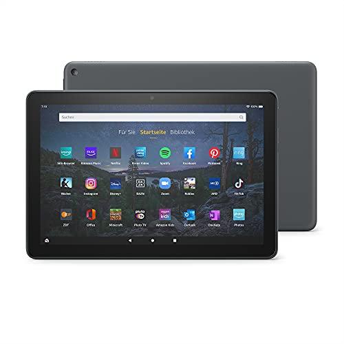 Neu: das Fire HD 10 Plus-Tablet | 25,6 cm (10,1 Zoll) großes Full-HD-Bildschirm (1080p), 32 GB, Schiefergrau – mit Werbung