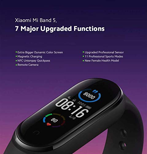 Xiaomi Mi Band 5 - Smart Fitness Bracelet Black, XMSH10HM