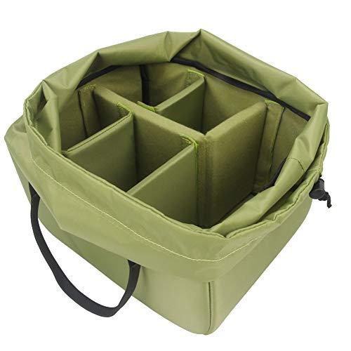 Yimidear Wasserdicht Stoß Partition Gepolsterte Kamera-Taschen SLR DSLR Insert Schutztasche mit Top-Griff für DSLR Einstellung Objektiv oder Blitzlicht (Big)