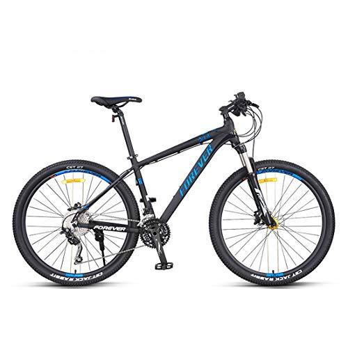 26Inch 27-Speed Mountain Bikes, Dual Disc Brake Hardtail Mountain Bike, Mens Women Adult All Terrain Mountain Bike, Adjustable Seat & Handlebar,Blue,A