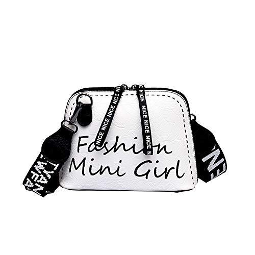 Bfmyxgs Stylische Tasche für Frauen Mädchen Crossbody-Bag Tide Schale Tasche breite Schulterriemen Wild Umhängetasche Rucksack Schultertasche Handtasche Totes Münze Tasche Taille Beutelpackung Brust